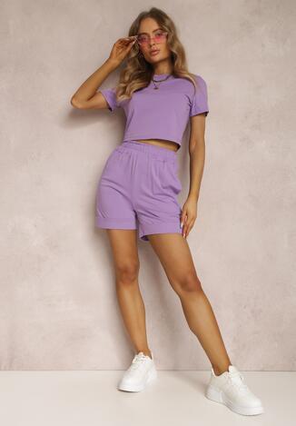 Фіолетовий Повсякденний Комплект із двох частин