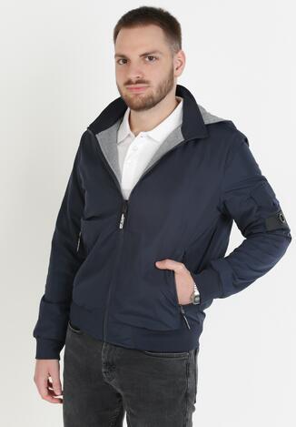 Синя Двостороння Куртка