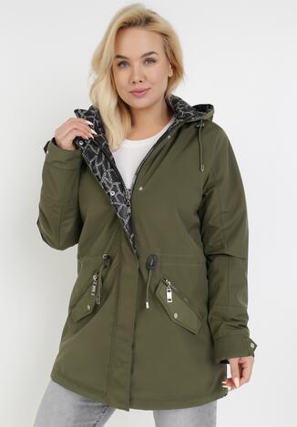 Зелена Двостороння Куртка