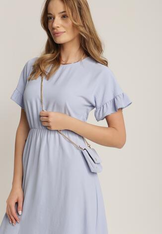 Блакитна Сукня з Сумкою