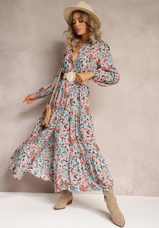 Блакитно-Рожева Сукня