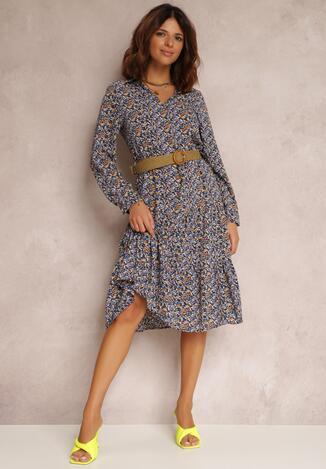 Синя Сукня з поясом