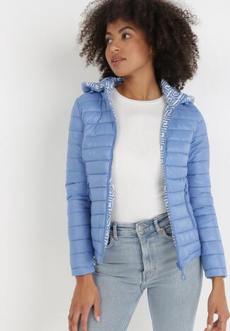 Блакитна Двостороння Куртка