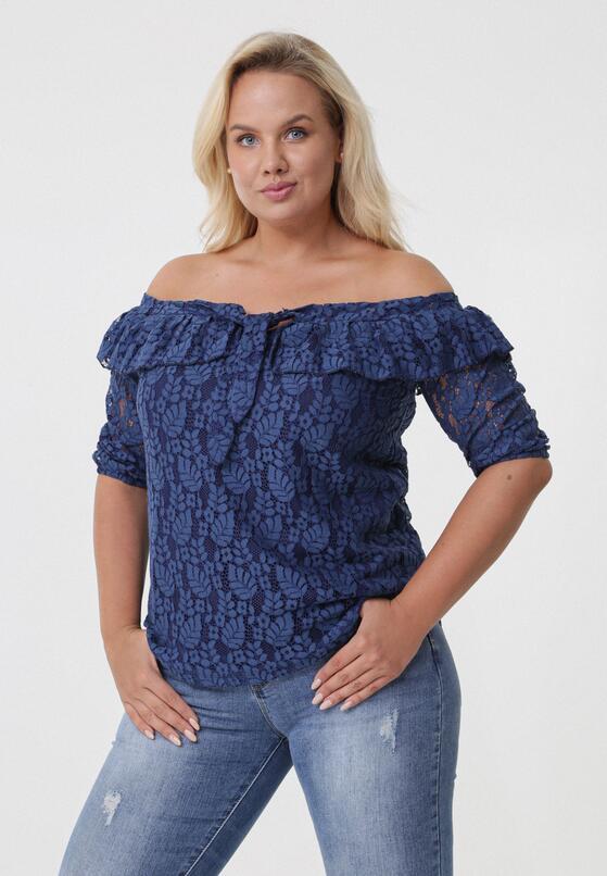 ef0fd7bff2e Темно-Синяя Кружевная Блузка в Born2be.com.ua