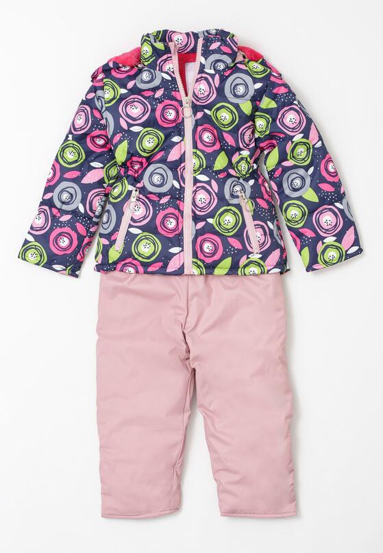 Рожевий Лижний костюм із двох частин