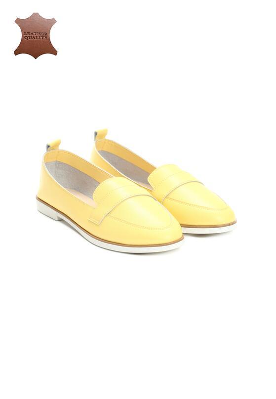 Жовті Шкіряні Лофери