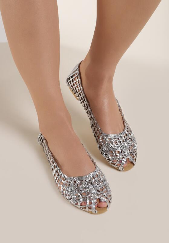Серебряные Балетки
