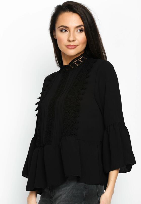 Черный Кружевной Джемпер