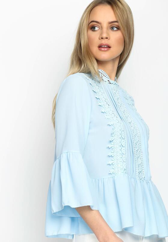 Голубой Кружевной Джемпер