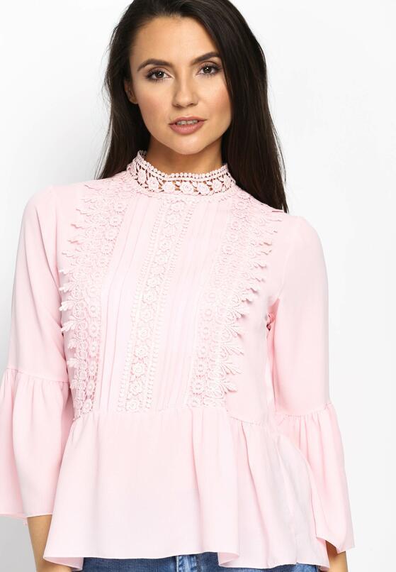 Розовый Кружевной Джемпер