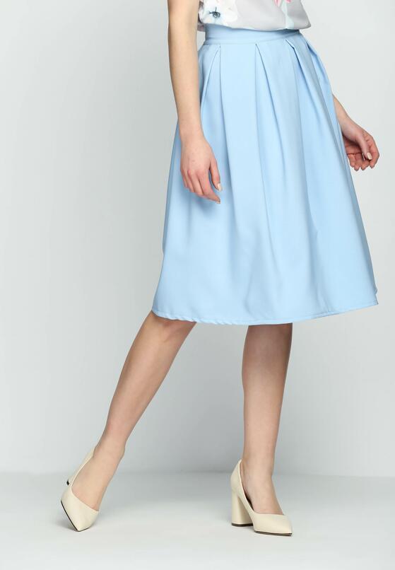 Блакитна Міді-Спідниця