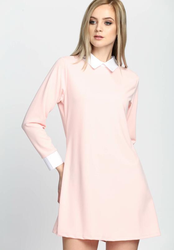Лососевое Платье