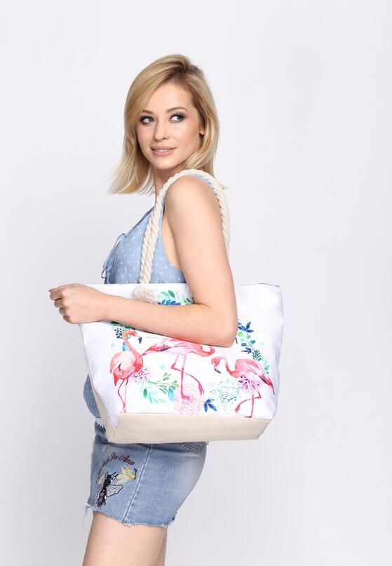 Біла Пляжна сумка