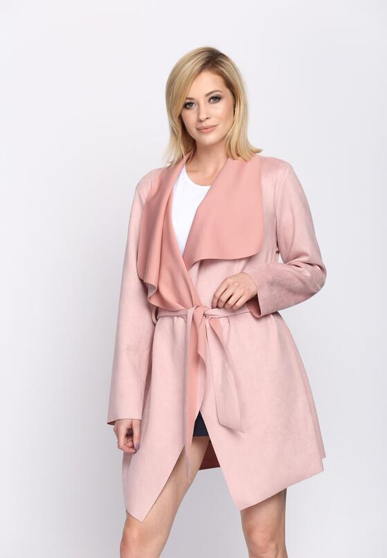 Розовое Полупальто