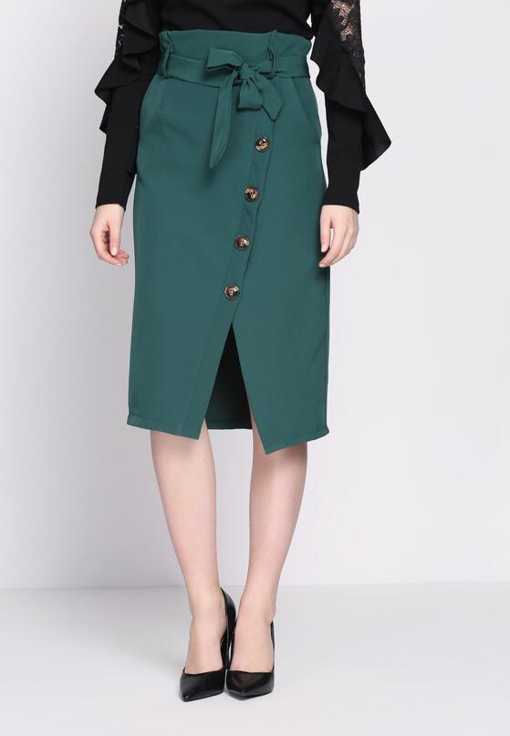 Зелена Міді-спідниця