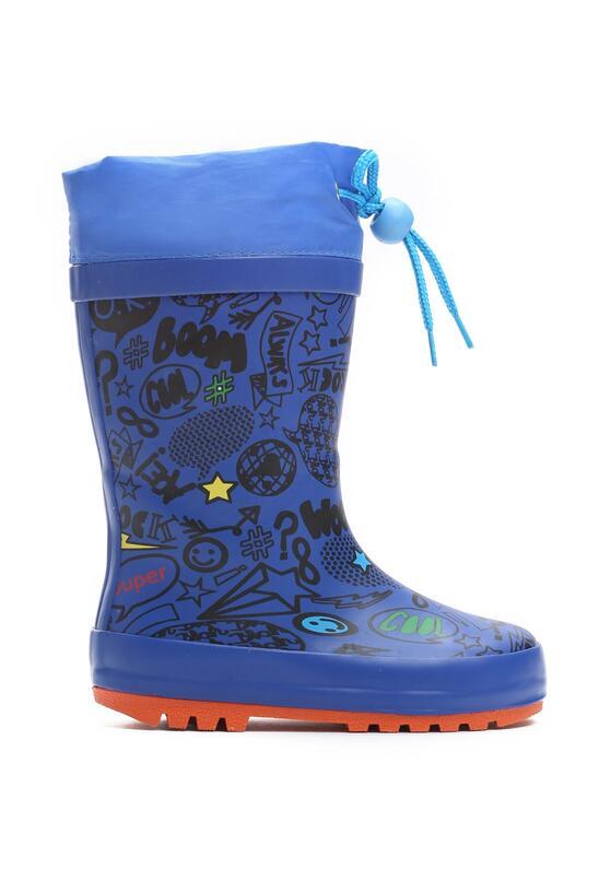 Голубые Резиновые сапоги