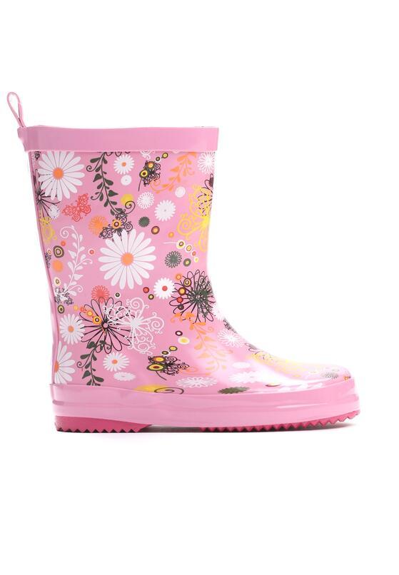 Розовые Резиновые Cапоги