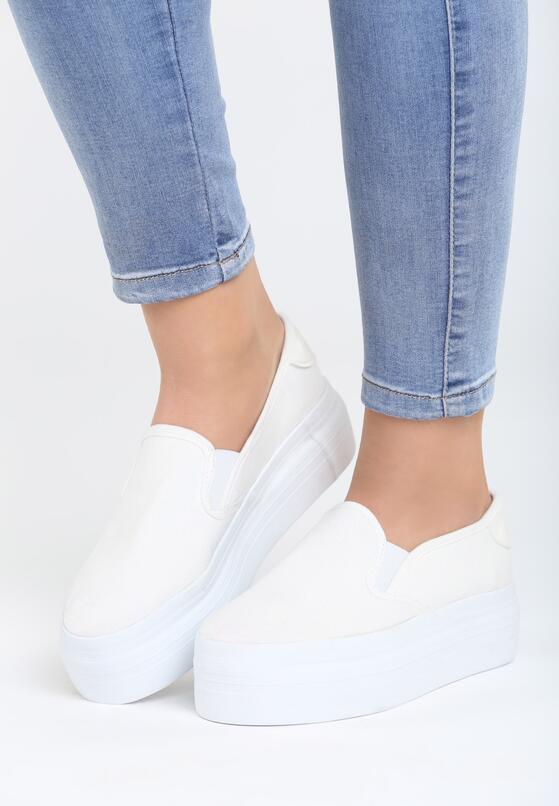 Белая Обувь на платформе