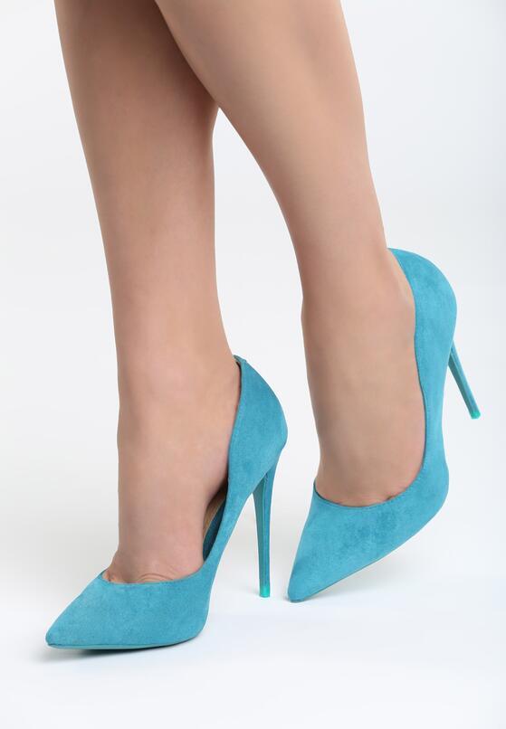 Светло-голубые Туфли-лодочки