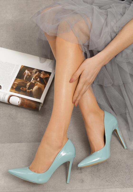 Голубые Туфли-Лодочки