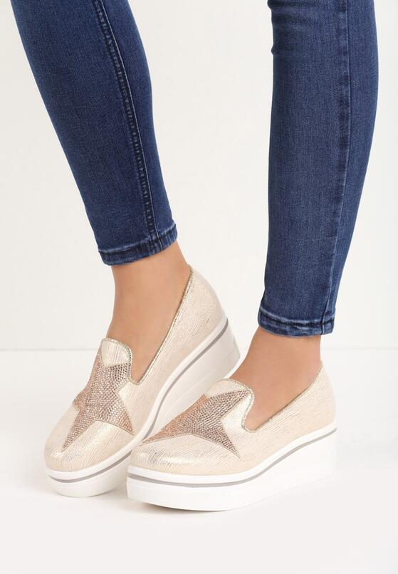 Золотая Обувь на платформе