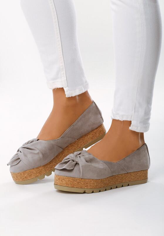 Серая Обувь на платформе