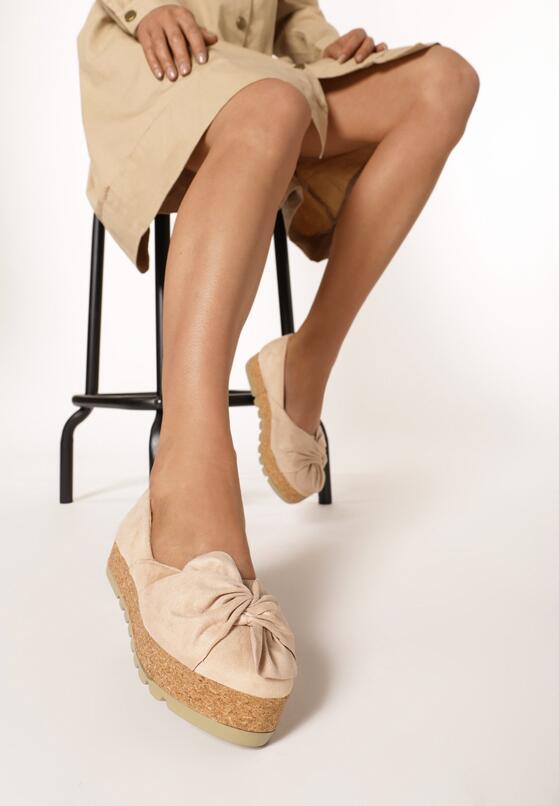 Бежевая Обувь на платформе