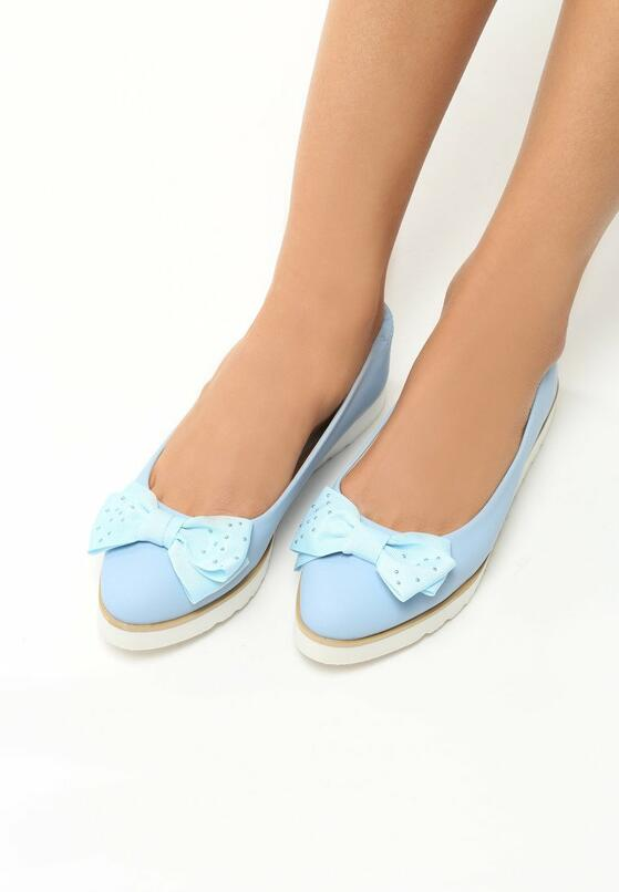 Голубые Балетки