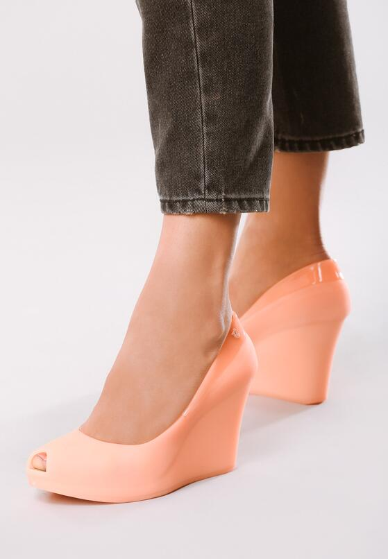 Оранжевая Обувь на танкетке