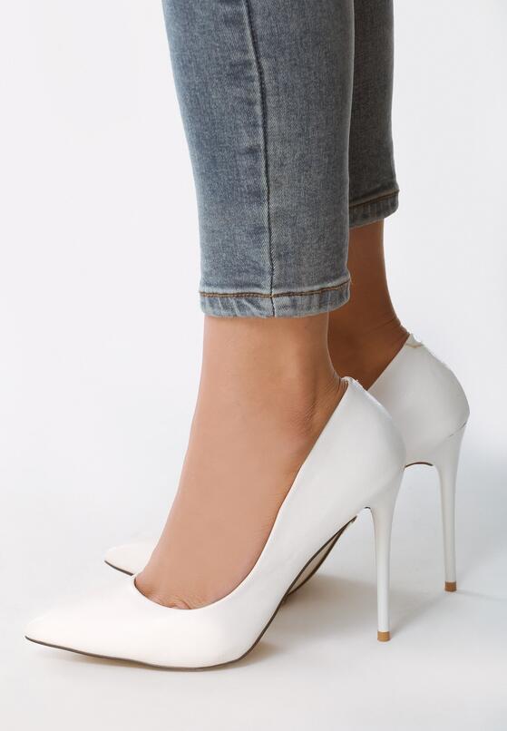 Белые Туфли-Лодочки