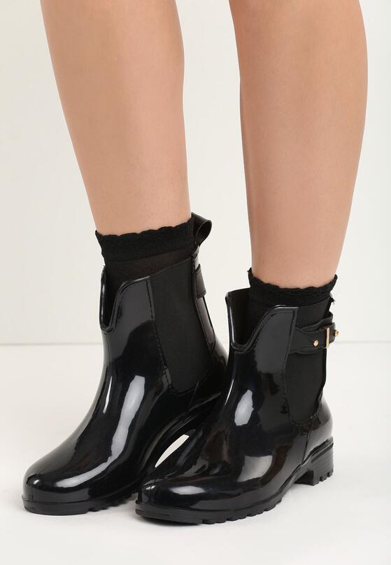 Черные Резиновые сапоги