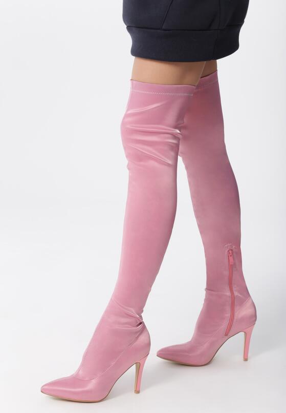 Розовые Ботфорты