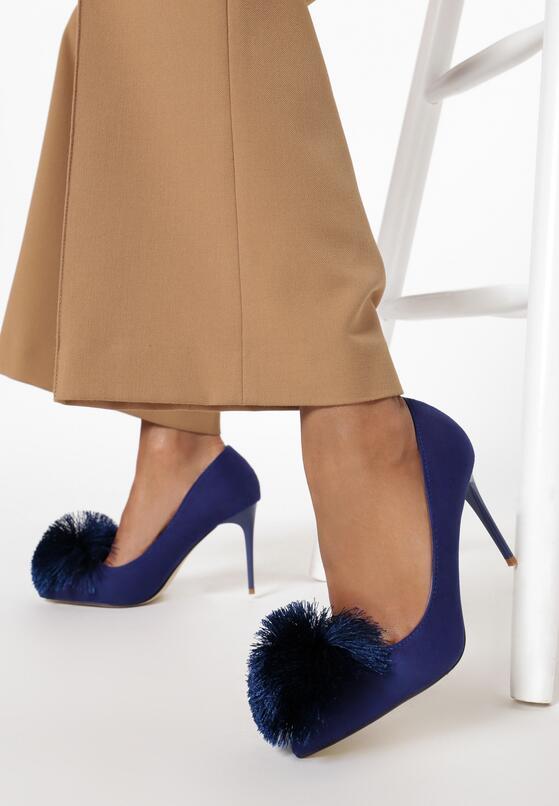 Темно-синие Туфли-лодочки