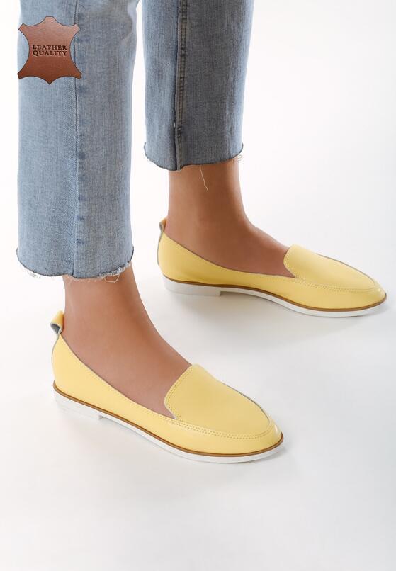 Желтые Кожаные  Лоферы