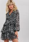 Чорна Сукня з Леопардовим Принтом