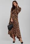 Бежева Сукня з Леопардовим Принтом
