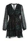Зелена Сукня з Леопардовим Принтом