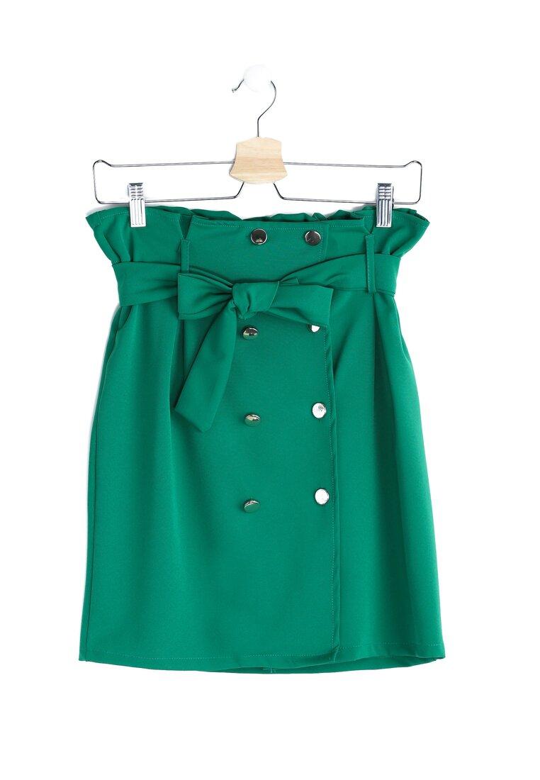 Зелена Міні-спідниця