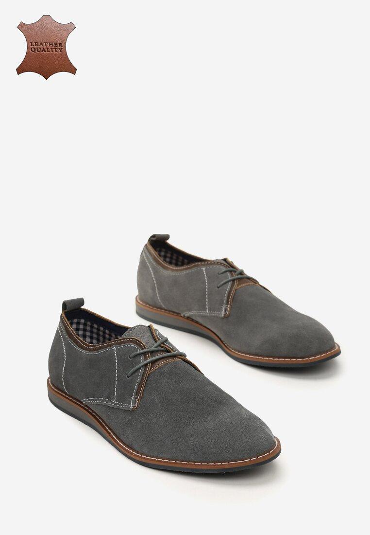 Сірі Шкіряні Туфлі
